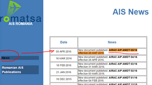 AIRAC AIP AMDT 05/16 effective 26 MAY 2016